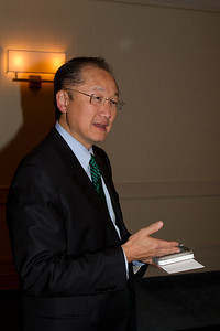 President Jim Yong Kim '82a is presented with a round of golf at Pebble Beach, one of the crown jewels of Northern California, and site of the 2012 Dartmouth Golf Tournament.