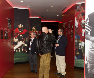 There's a 49ers museum leading to the new stadium information space. (C) George Hamma 2013