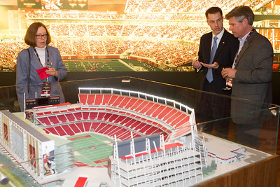 A model of the stadium showed all the seating arrangements. (C) George Hamma 2013