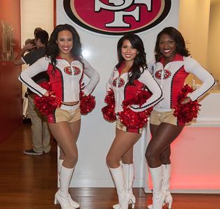 The 49ers cheerleaders were very welcoming. (C) George Hamma 2013