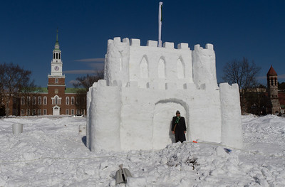 Alan checks out the snow castle.