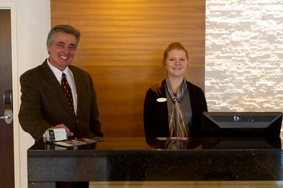 Don, General Manager, and Whitni were among the welcoming staff.