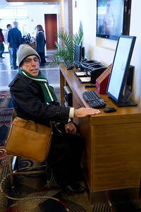 Alan used the computers at Six South Street to check his currency trades daily.