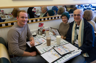 A mandatory tradition, we saw friends Drew, Dick, and Ruth when we stopped for breakfast at Lou's.