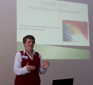 For many of us first-timers, Sue Young '77, P'10 provided an introduction to the CAGOW sessions and a roadmap of planned events.