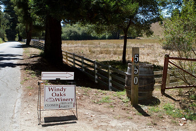 Cruising down Hazel Dell Road in the Santa Cruz Mountains, we came upon this inviting sign.