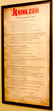 Everything about the activities inside the Armory is up front - this notice clearly explains the policies in place and expectations.  The operation is very professional, and the models participating are the focus of the activities.