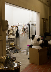 There is also a laundry on site to clean costumes for re use, although we didn't know how the Panda was employed.