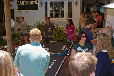 Robert Collier '13 and Emily Pizzichemi '10 playing on the DAASV Tournament Table.