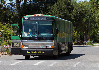The Big Green Bus pulls into town, and its a perfect California day for Pong!