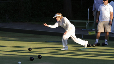 Lawn bowling seems like a good game for all ages.  The DAASV's Lois Everett put everyone to shame.