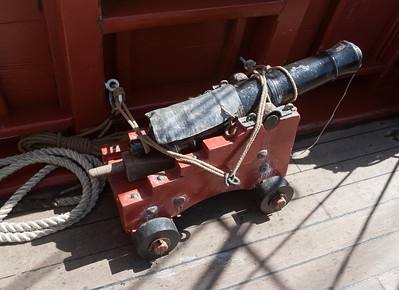 One of our two three-pound cannons.  We won't be putting the three-pound cannon balls in this trip.