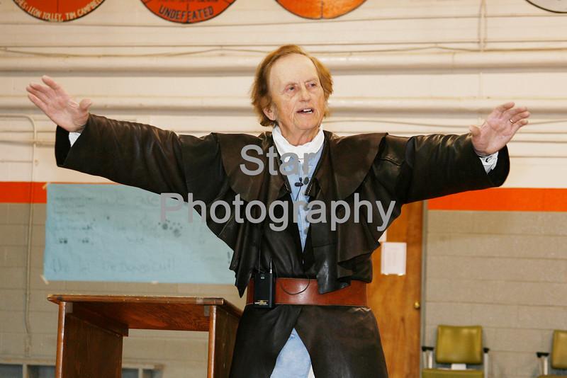 Photo by Eveleigh Stewart<br /> Grant Hardin as Daniel Boone