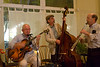 """Dartmouth Five"" at Heirloom Cafe 11/23/10 : DAASV members and their guests enjoyed dinner, wine, and listened to ""Dartmouth Five"" Dixieland Band at Heirloom Cafe in San Francisco.  In the late '60s, the College had a Dixieland Jazz band called ""Dartmouth Five"". These talented young men also recorded a successful album - Dartmouth Five: On The Road. Many of its members went on to more steady professions, like medicine and dentistry, and several became professional musicians. Scott Anthony '70 became one of the best jazz banjo players in the country and has led a Dixieland band, called the Golden Gate Rhythm Machine, in the Bay Area for years. Stephen Straus '70 became a dentist in Massachusetts, returning to music on occasion.  These photos are available for participants to download and use. High quality prints are available by clicking on the ""Buy"" button. Photos (C) 2010 George Hamma"