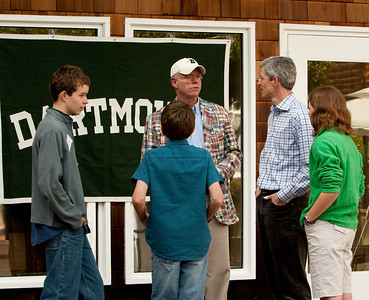 DAASV President James von Rittmann '95 was delighted to greet the Kidder family.