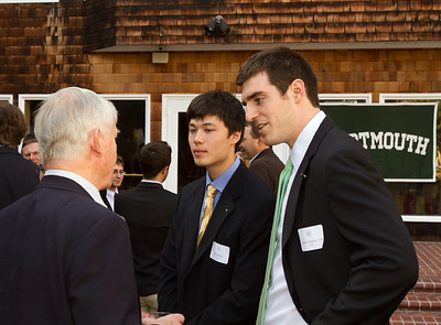 Will and Fernando get some sage advice from John Colwell '55.