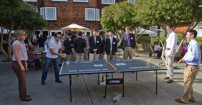 Whitney MacFayden '07 and Scott Safadi '03 challenged Dartmouth Aires Fernando Rodriquez-Villa '11 and Matthew Wang '10 to a friendly game of pong.
