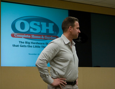 Rob Lynch gave a wide-reaching presentation that touched on the OSH culture, business plan, and the business climate.