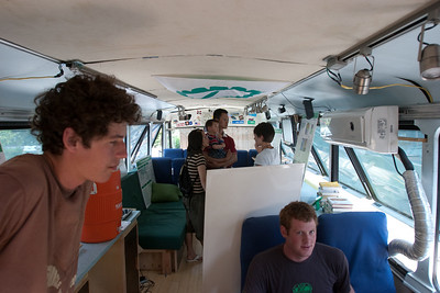 The interior of the bus was constructed by the crew, with the assistance of some resources at Dartmouth College.