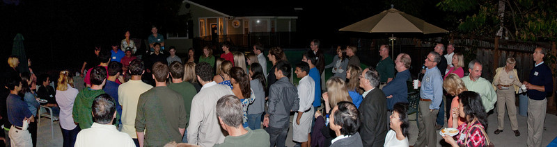 Linda and Jeff led the introductions of current students, invited for the occasion, and '14s..