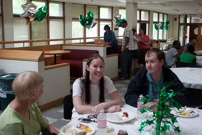 Day 1 - Lunch was catered, and a decorated dining space was provided.