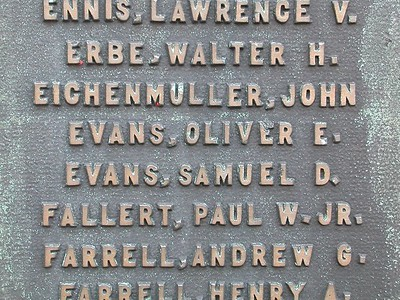 My father (Oliver) and my uncle (Samuel) names appear on the monument.