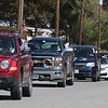 Englesby Elementary School teachers hold a parade of 30 cars with signs through their students' neighborhoods, during school shutdown for coronavirus/covid-19 emergency. Parade comes down Harold Ave to Lakeview.  (SUN/Julia Malakie)
