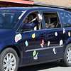 Englesby Elementary School teachers hold a parade of 30 cars with signs through their students' neighborhoods, during school shutdown for coronavirus/covid-19 emergency.  (SUN/Julia Malakie)