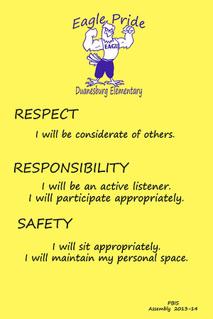 Duanesburg Elementary PBIS Posters