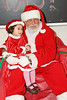 Liesel Rillorta (aged two years and half) visits Santa - ontario early years centre in moosonee, christmas party 2007 december 20