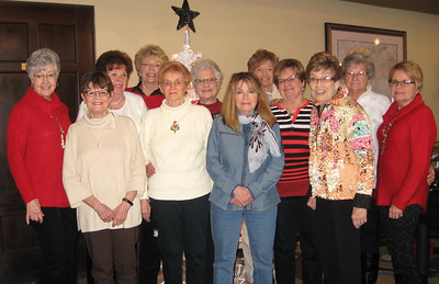 Our birthday group at lunch today - we have been doing this for approx. 40 yrs., either lunch or evening dinner - Doris, Sharon, Marie, Nancy L.,Carol, Billie, Charlene, Donna, Mim, Mary, Shirley Nancy M. We missed you Claudette! Dec 2016