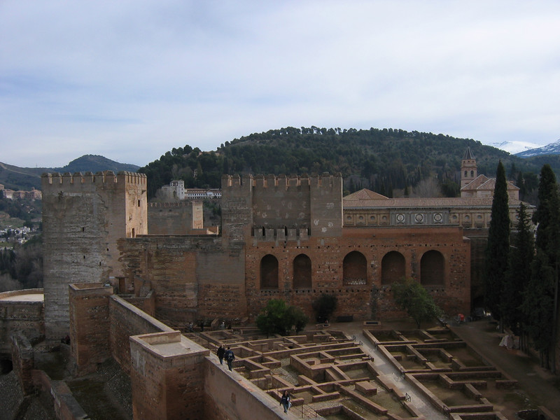 Alhambra (another castle), Grenada Spain before correction (March 2006)