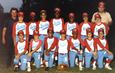 Little League Baseball Team - Spring, 1983 <br /> Joe Brown Park - New Orleans Recreational Department<br /> Here's the team. I would be the one right behind the baseball glove.