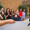 Fifth-grade students smile while being presented the $200 check from the Cass County Community Foundation at Pioneer Elementary School in Walton on Tuesday, Sept. 28, 2021.