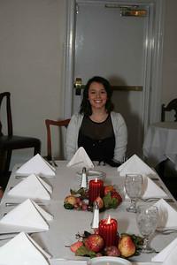 Elisabeth at her dinner party.