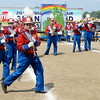 "Don Knight | The Herald Bulletin<br /> The Elwood band performs their program ""Follow Our Yellow Brick Road"" during State Fair Band Day competition on Saturday."