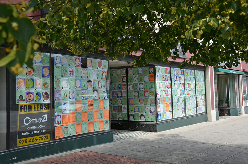 On Tuesday afternoon, empty storefronts on Main Street were filled with artwork by students from the Fitchburg Public Schools. SENTINEL & ENTERPRISE / Ashley Green