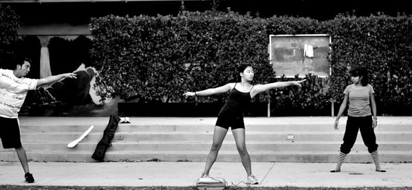 color guard makes stretching look beautiful. :)