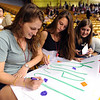 "Earlier graduates of Fairview, Rebecca Warren, Nina Bell, and Grace Modisett, make signs for their favorite 2012 graduates.<br /> For more photos and a video of Fairview, go to  <a href=""http://www.dailycamera.com"">http://www.dailycamera.com</a>.<br /> Cliff Grassmick / May 20, 2012"
