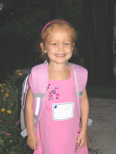 Elizabeth's first day of kindergarten!!  She was so excited!