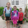 First day for the girls (8/17) - Celia 5th grade / Lydia 2nd grade
