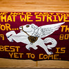 Fitchburg High School class banner from 1980. The past class banners will be used in the upcoming graduation to celebrate 150 years. SENTINEL & ENTERPRISE / Ashley Green