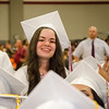 Leslie Morales smiles during the 150th Fitchburg High graduation ceremony on Friday afternoon. SENTINEL & ENTERPRISE / Ashley Green