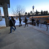 Students head into Fitchburg High School after arriving on their bus, Friday morning.<br /> SENTINEL & ENTERPRISE / BRETT CRAWFORD