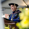 President Richard Lapidus addresses the graduates during the 120th commencement ceremony at Fitchburg State University on Saturday afternoon. SENTINEL & ENTERPRISE / Ashley Green