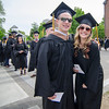 Timmy Genova and Morgan Gilbert during the 120th commencement ceremony at Fitchburg State University on Saturday afternoon. SENTINEL & ENTERPRISE / Ashley Green