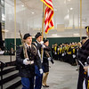 The ROTC Color Guard presents the colors at the start of the graduate commencement ceremony at Fitchburg State University on Thursday evening. SENTINEL & ENTEPRISE / Ashley Green