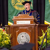 President Richard Lapidus addresses the students during the Fitchburg State University graduate commencement ceremony on Thursday evening. SENTINEL & ENTERPRISE / Ashley Green