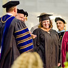 Ashley Walters, of Leominster, receives her Master of Business Administration during the Fitchburg State University graduate commencement ceremony on Thursday evening. SENTINEL & ENTERPRISE / Ashley Green