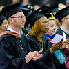 Graduates applaud the speakers the graduate commencement ceremony at Fitchburg State University on Thursday evening. SENTINEL & ENTEPRISE / Ashley Green